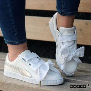 07582ab873eb Puma Shoes - PUMA Women s Basket Heart Patent